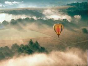 globo sobre el cielo