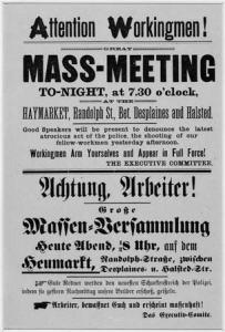 poster for labor strike